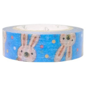SEAL-DO Flossy Rabbit - Washi Tape Metallic - Made in Japan