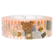 SEAL-DO Flossy Bear - Washi Tape Metallic - Made in Japan