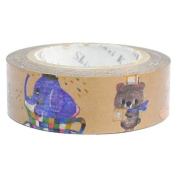 SEAL-DO Anime Animals - Washi Tape Metallic - Made in Japan