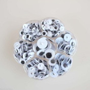 Box 230pcs Sew-on Wiggly Wobbly Googly Eyes Scrapbooking Crafts 8-15mm Assorted