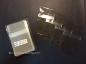 100 Pcs 2 3/4 X 3 3/4 (P) Clear Resealable Cello/cellophane Bags Good for 2x3 Item, Business Card - Tape Strip on Body