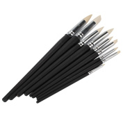 DN Clay Colour Shapers Black Wood Shank Pottery Painting Tools Pack Of 9