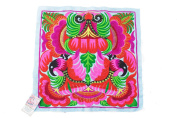 Blue Orchid Tribal Textile Thai Hmong Embroidered Fashionable Style