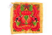 Yellow Orchid Tribal Textile Thai Hmong Embroidered Fashionable Style