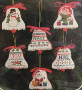 """Bucilla Christmas Heirloom """"Bell Chimes"""" Counted Cross Stitch Kit"""