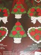 Bucilla Rose Tree Felt Christmas Tree Ornaments
