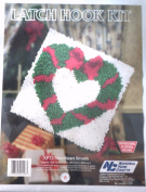 National Yarn Crafts Sweetheart Wreath Latch Hook Kit