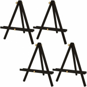 US Art Supply 30cm Tall Tripod Easel-Pine Wood-Painted Black
