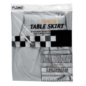 Flomo TK517 70cm x 430cm . Silver Table Skirt, Case of 36