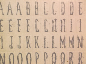 The Paper Loft *White Washed* Cardstock Alphabet Stickers