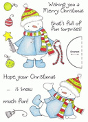 Inky Antics Clear Stamps - Decorating Snowman