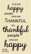 Happy Thankful People Greeting Rubber Stamp By DRS Designs