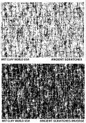 Flexistamps Texture Sheet Set Ancient Scratches Designs (Including Ancient Scratches and Ancient Scratches Inverse)- 2 Pc.