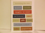 *Christmas* Words Two Sided Embossed Stickers