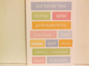*Family* Words Two Sided Embossed Stickers