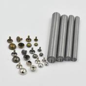 """One Tool + 100 Pcs 1/4"""" 6mm Double Domed Cap Stud Rivet Button Snap Mix Colour For Bag Clothes Bracelet"""