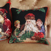 New Royal Collection Christmas Handmade Wool Needlepoint Cushion Cover/ Pillow Sham NP207