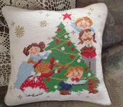 New Royal Collection Christmas Handmade Wool Needlepoint Cushion Cover/ Pillow Sham NP91986