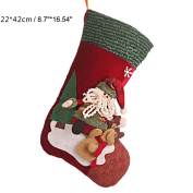 Christmas Stocking Felt Applique Kit, Snowman Stockings Over the Rooftops
