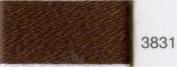 Madeira 9312-3831 Lana Wool/Acrylic Embroidery Thread, 12wt/220 yd, Dark Brown