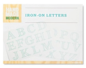 Hand Made Modern - Iron-on Transfer Letters - Blue - 4 Sheets