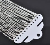 Rockin Beads 12 Pack Silver Plated Lobster Clasp Link Chain Necklaces 50cm