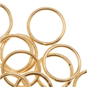 22K Gold Plated Closed Jump Rings 8mm 20 Gauge