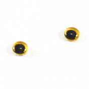 8mm Glass Owl Eyes in Yellow Bird Crafting Supply Flatback Cabochons for Doll Taxidermy or Jewellery Making