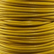 "#22 Yellow Round Leather Cord 2mm (3/32"") x 10 m"