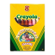 Wholesale CASE of 25. Multicultural Crayons-Multicultural Crayons, Nontoxic, 8/BX, Assorted