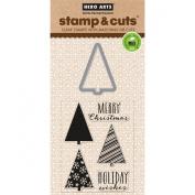 Hero Arts Scrapbooking Stamp and Die Cuts, Holiday Tree