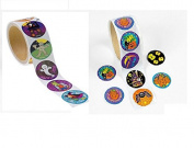 200 HALLOWEEN Stickers (2 Rolls of 100 Each) aAssorted DESIGNS - 3.8cm SCRAPBOOKING - ARTS & CRAFTS - CLASSROOM Teacher ACTIVITIES - Party Favours TRICK or Treat