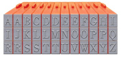Mason Row XL-58000 36-Piece Uppercase Alphabet Clickable Bodoni Font Stamp Set