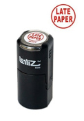 LolliZ Late Paper Round Self-Inking Teacher Stamp. Red Solid Colour