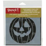 Stencil1 15cm x 15cm Stencil-Jack-O-Lantern 1