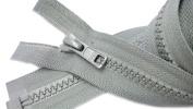 ZipperStop Wholesale Authorised Distributor YKK® Sport Separating Zipper 60cm Colour Pearl Grey #577 (Special) Vislon Jacket Zip YKK #5 Moulded Plastic