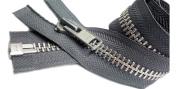 ZipperStop Wholesale Authorised Distributor YKK® Vintage 90cm Chaps Zipper YKK #10 Aluminium Separating Colour Rail Grey #578