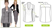 Style Arc Sewing Pattern - Marie Jacket (Sizes 18-30) - Click for Other Sizes Available