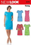 Simplicity Creative Patterns New Look 6176 Misses' Dress with Sleeve Variations, A