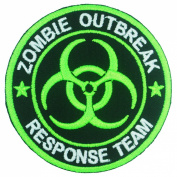 Zombie Outbreak Response Team Logo Badge Iron on Embroidered Patches