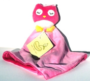BeanSprout Owl Blankie ~ Pink