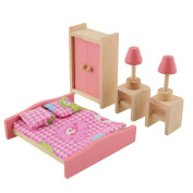 Vktech® Wooden Dollhouse Funiture Kids Child Room Set Play Toy