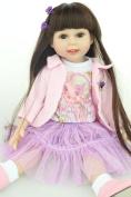 Npkdoll Lovely Girl Toy Doll High Soft Vinyl 18inch 45cm Lifelike Movable Smile Princess Girl Pattern