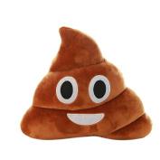 Malloom Mini Funny Emoji Cushion Poo Shape Pillow Doll Toy Home Decor