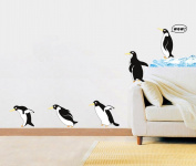 Fange DIY Removable Cartoon Iceland Penguin Art Mural Vinyl Waterproof Wall Stickers Kids Room Decor Nursery Decal Sticker Wallpaper 90cm x 60cm