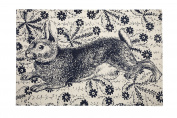 Bunny Transferware Bath Mat
