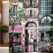 Get Orange®painterly Style Curtain Les Halles/ Rue De Rivoli Shower Curtain Liners 180cm X 200cm