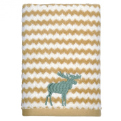 Peri Home Embroidered Moose 100% Cotton Hand Towel, 38cm x 70cm , Brown