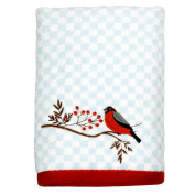 Peri Home Embroidered Cardinal 100% Cotton Hand Towel, 38cm x 70cm , Blue