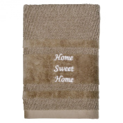Peri Home Embroidered Sweet 100% Cotton Hand Towel, 38cm x 70cm , Mocha